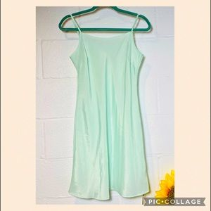 NWT Tetelee Style-we Blue/Mint Sheer Dress